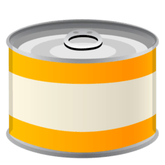 Canned Food Emoji on Google Android and Chromebooks