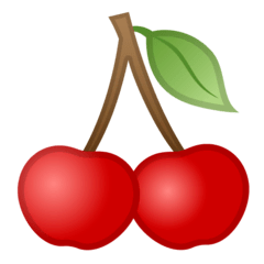 Cherries Emoji on Google Android and Chromebooks