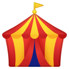 Circus Tent Emoji on Google Android and Chromebooks