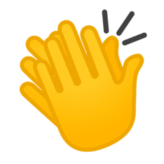 Clapping Hands Emoji on Google Android and Chromebooks