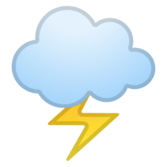 Cloud With Lightning Emoji on Google Android and Chromebooks