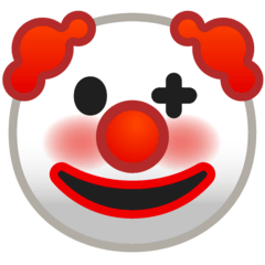 Clown Face Emoji on Google Android and Chromebooks