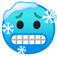 Cold Face Emoji on Google Android and Chromebooks