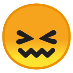 Confounded Face Emoji on Google Android and Chromebooks