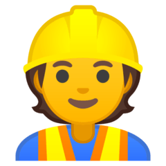 Construction Worker Emoji on Google Android and Chromebooks