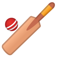 Cricket Game Emoji on Google Android and Chromebooks