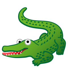 Crocodile Emoji on Google Android and Chromebooks