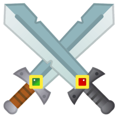 Crossed Swords Emoji on Google Android and Chromebooks