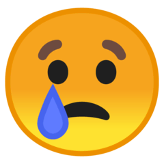 Crying Face Emoji on Google Android and Chromebooks