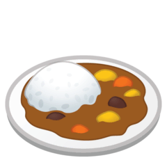 Curry Rice Emoji on Google Android and Chromebooks