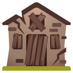 Derelict House Emoji on Google Android and Chromebooks
