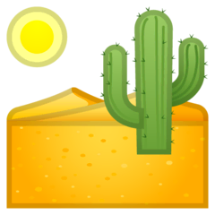 Desert Emoji on Google Android and Chromebooks