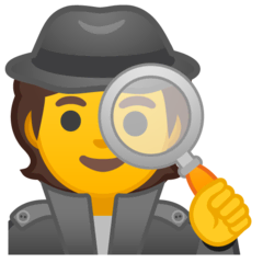 Detective Emoji on Google Android and Chromebooks