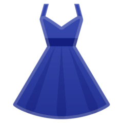 Dress Emoji on Google Android and Chromebooks