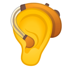Ear With Hearing Aid Emoji on Google Android and Chromebooks
