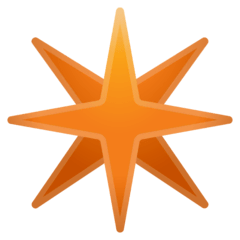 Eight-Pointed Star Emoji on Google Android and Chromebooks