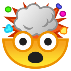 Exploding Head Emoji on Google Android and Chromebooks