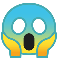 Face Screaming in Fear Emoji on Google Android and Chromebooks