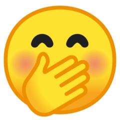 Face With Hand Over Mouth Emoji on Google Android and Chromebooks
