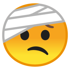 Face With Head-Bandage Emoji on Google Android and Chromebooks