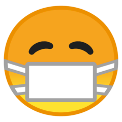 Face With Medical Mask Emoji on Google Android and Chromebooks