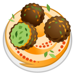 Falafel Emoji on Google Android and Chromebooks