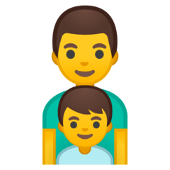 Family: Man, Boy Emoji on Google Android and Chromebooks