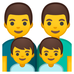 Family: Man, Man, Boy, Boy Emoji on Google Android and Chromebooks