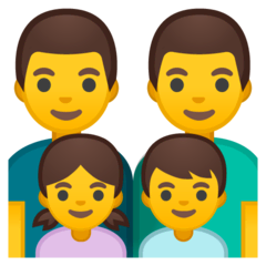 Family: Man, Man, Girl, Boy Emoji on Google Android and Chromebooks