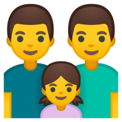 Family: Man, Man, Girl Emoji on Google Android and Chromebooks