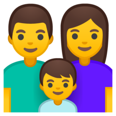 Family: Man, Woman, Boy Emoji on Google Android and Chromebooks