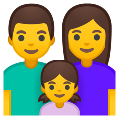 Family: Man, Woman, Girl Emoji on Google Android and Chromebooks