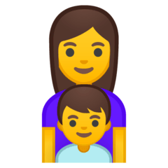 Family: Woman, Boy Emoji on Google Android and Chromebooks