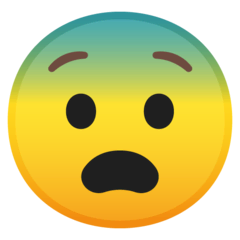 Fearful Face Emoji on Google Android and Chromebooks