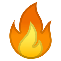 Fire Emoji on Google Android and Chromebooks