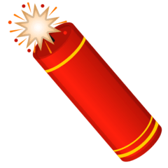 Firecracker Emoji on Google Android and Chromebooks