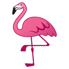 Flamingo Emoji on Google Android and Chromebooks