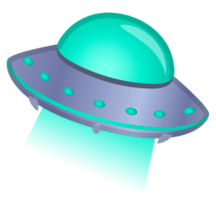 Flying Saucer Emoji on Google Android and Chromebooks