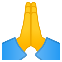 Folded Hands Emoji on Google Android and Chromebooks
