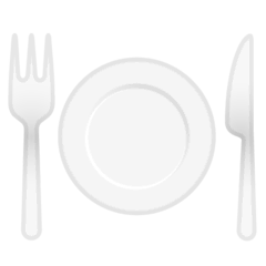 Fork and Knife With Plate Emoji on Google Android and Chromebooks