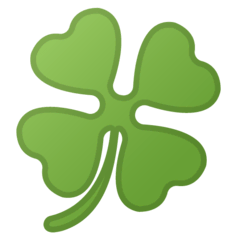 Four Leaf Clover Emoji on Google Android and Chromebooks