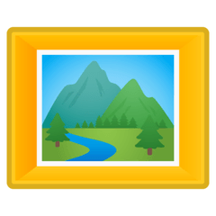 Framed Picture Emoji on Google Android and Chromebooks