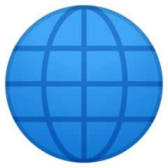Globe With Meridians Emoji on Google Android and Chromebooks