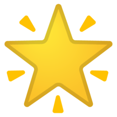 Glowing Star Emoji on Google Android and Chromebooks