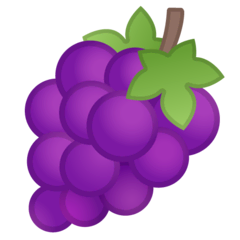 Grapes Emoji on Google Android and Chromebooks