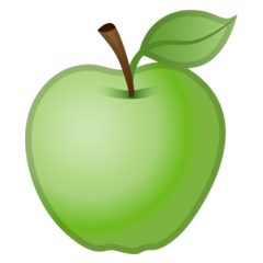 Green Apple Emoji on Google Android and Chromebooks