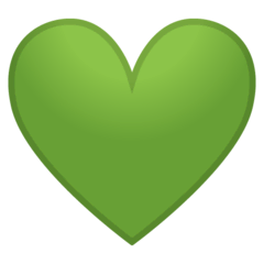 Green Heart Emoji on Google Android and Chromebooks
