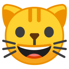 Grinning Cat Emoji on Google Android and Chromebooks