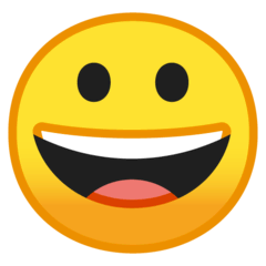 Grinning Face Emoji on Google Android and Chromebooks