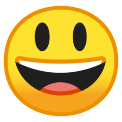 Grinning Face With Big Eyes Emoji on Google Android and Chromebooks